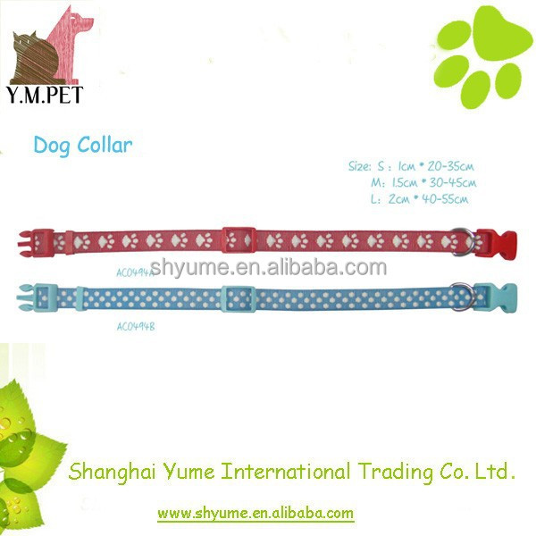 Dog Training Collar with Fashion Jacquard Patterns