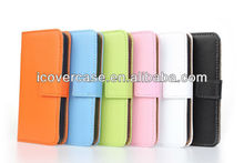 plain genuine leather wallet case for iphone 5c,new iPhones