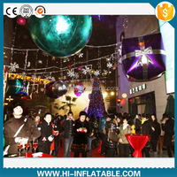Party inflatable supplies shinny inflatable ball & inflatable cube for event/festival/Christmas decoration