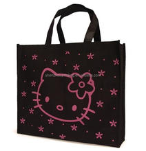 New design beautiful custom hello kitty reusable non woven hello kitty handbags tote purse shopping bag wholesale