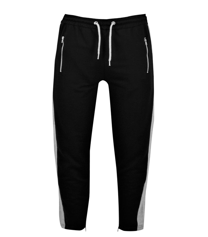Side Panel Style Cotton Fitness Joggers With Zippers