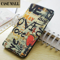 LOVE DRAWING wallet case for iphone 6 4.7, drawing wallet cell phone cover for iphone 6