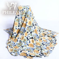 PHILEASY 2012 NEW STYLE 100%polyester FDY printed knitting fabric with spendex