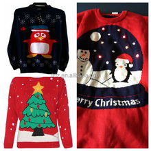 Children/Kids Boys Novelty Christmas Penguin Light up Jumper