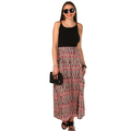 High Quality Side Pockets Maxi Skirt in Multi Colour Design