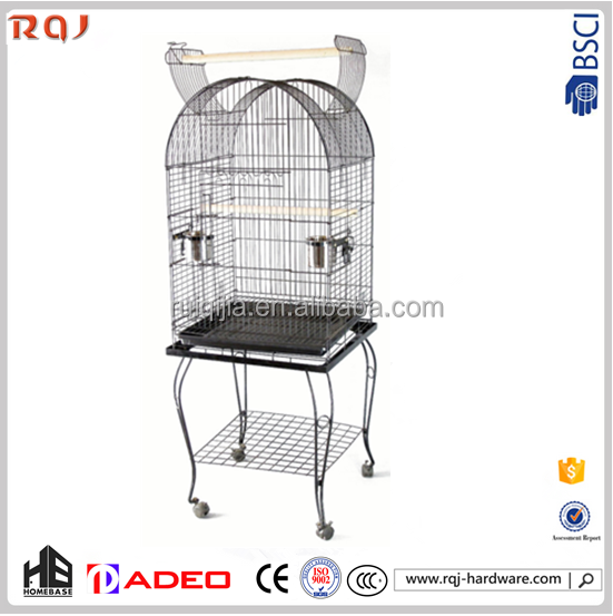 Parrot cages kennel!Metal hamer tone black Steel iron african Large Pet Bird Parrot Cage
