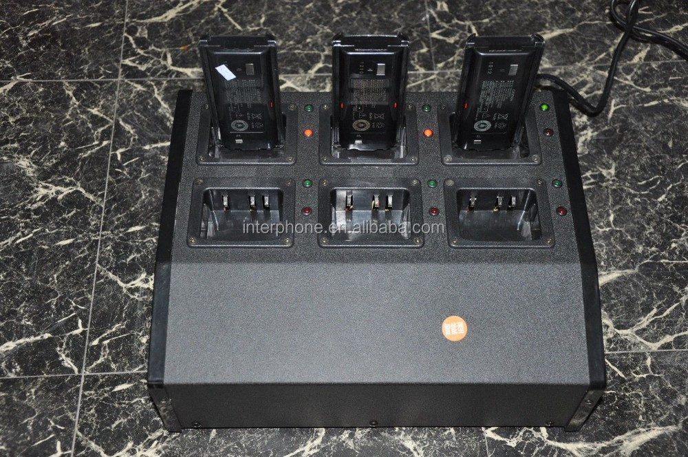 rapid charger ,KNB29N NiMH Ken-wood Six Bay Charger and 6 NiMH Battery packs