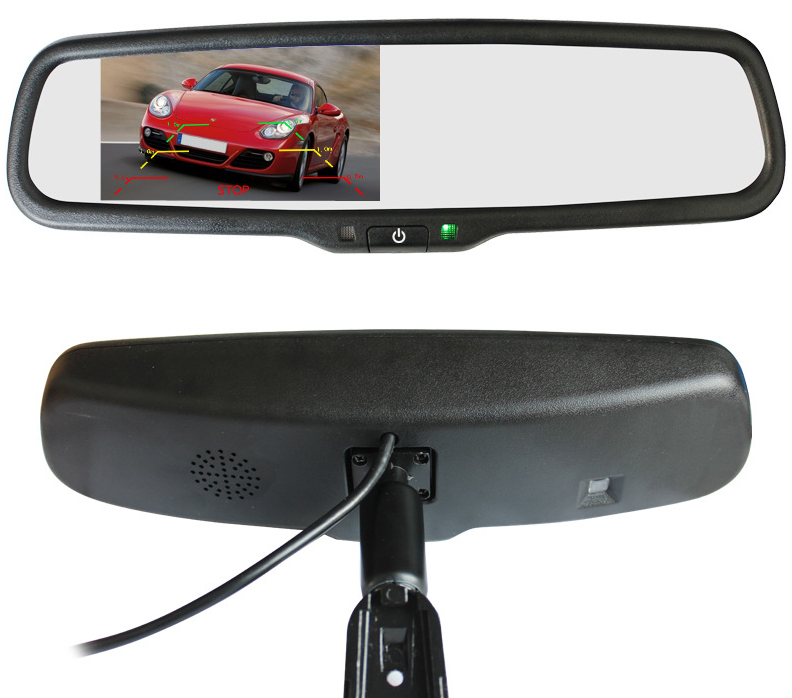 High Quality Parking sensor/reverse camera car monitor auto dimming rearview mirror