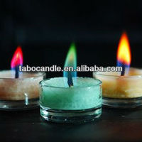 color tealight jar candle flame/6pc color flame torch lighter