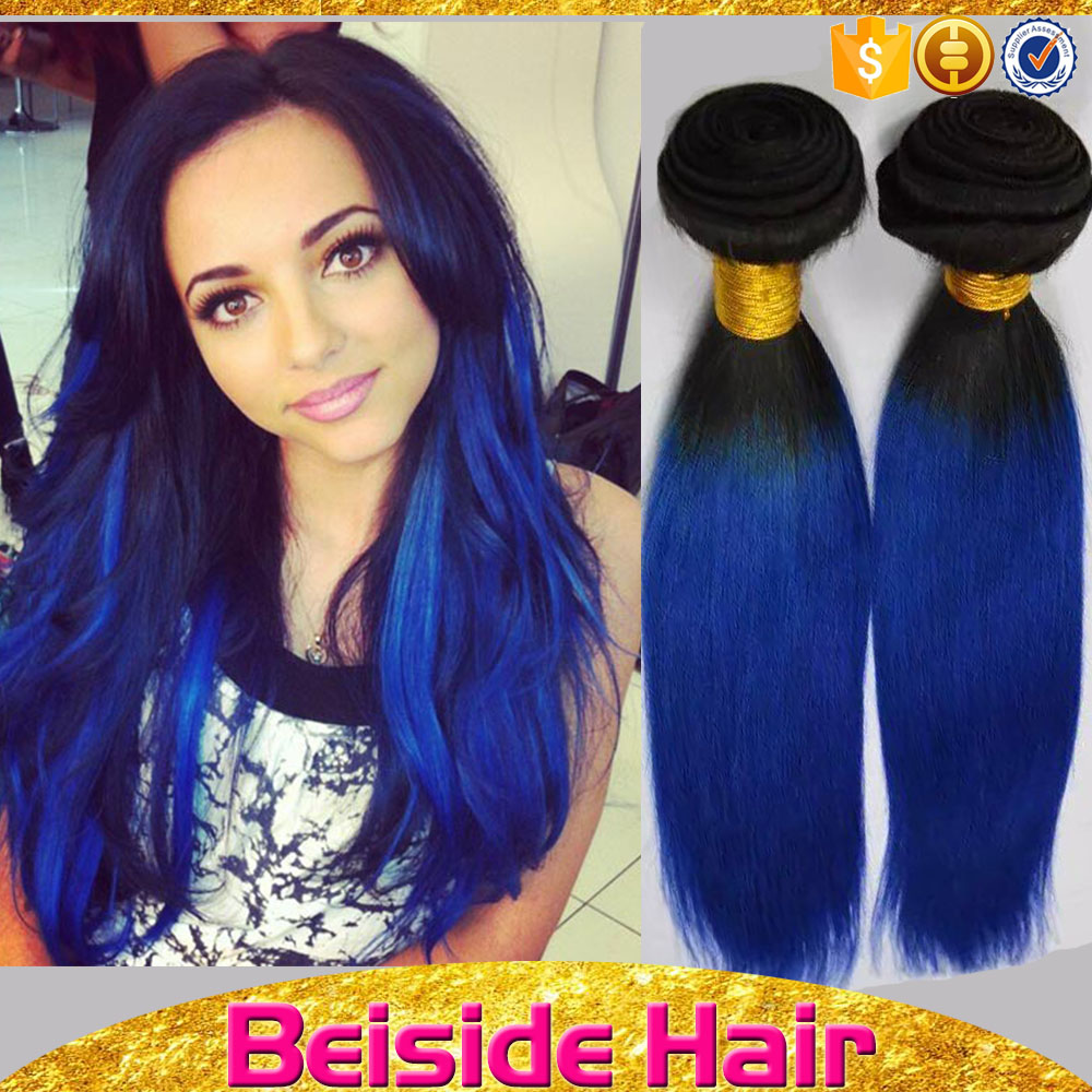 Guangzhou wholesale market 1 year warranty brazilian hairs dark blue color weave