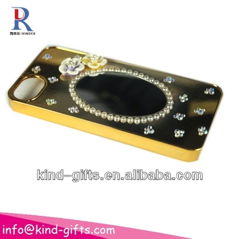 New Bling Rhinestone Mirror Case Mobile Phone Covers With Mirror