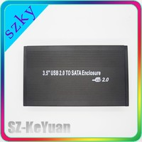 "3.5 Inch SATA Aluminum HDD Case 3.5"" USB2.0 SATA HDD Enclosure"