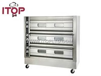 bakery equipment electric bread 3 deck oven