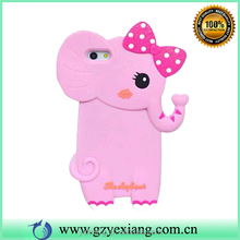 Hot Sale 3D Animal Silicone Phone Case For iPhone 5 Gel Case Cover