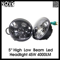 Motocycles Accessories Led Lights 5'' Head Lamp 7'' Halo Ring Headlight