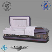 Chinese funeral purple steel caskets(1806)