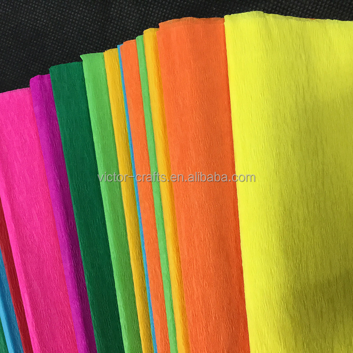 Victor Crafts Hot double sided crepe paper in roll whoesales eco-friendly handmade crepe paper