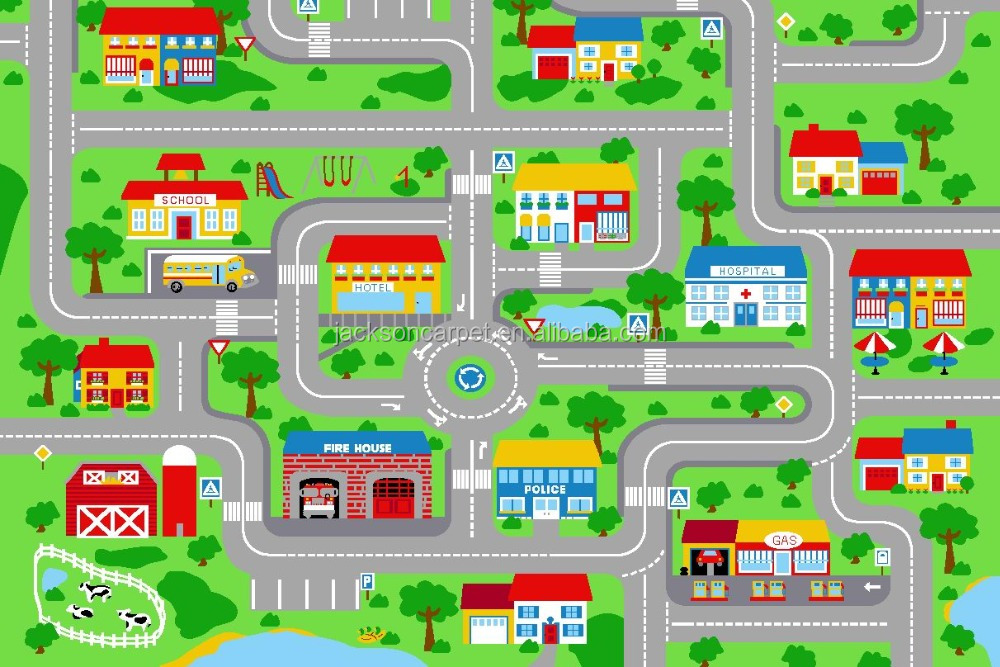 CHILDREN'S PLAY MAT - CITY ROAD DESIGN - BABY/KIDS PLAYMAT