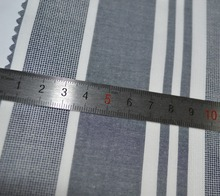 Grey And White 100% Cotton Stripe Mesh Fabric