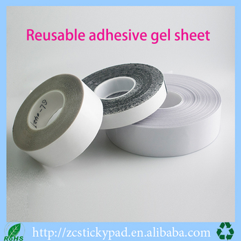 Customized die-cutting 100% pu gel reusable sticky pad