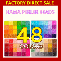 Most popular Diy Colorful non-toxic plastic 5mm hama perler beads child toy Super Perles Beads
