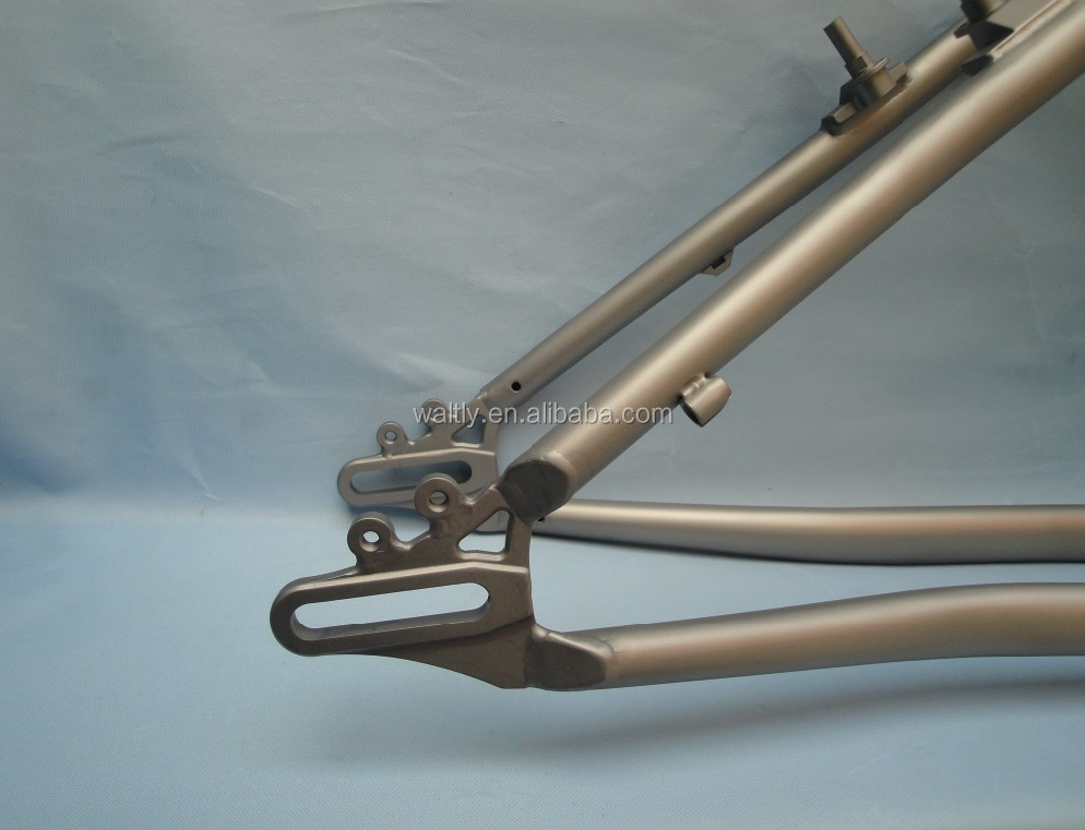 Sandblast titanium material designer bike frame for mountain use