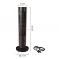 Portable Mini USB Tower Fan No Leaf Bladeless Air Conditioner Cool