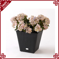 UV-resistant plastic rattan garden flower planter 2016 decorative plant pot
