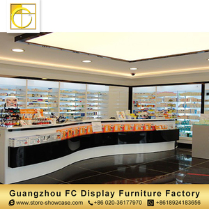 high quality furniture china wall mounted acrylic display shelf medical store furniture counter design