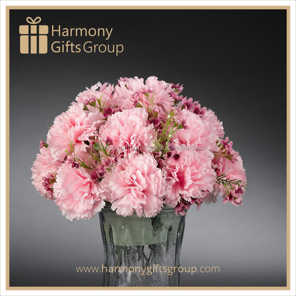 Monther's Day Gifts Silk Carnation Flower Artificial