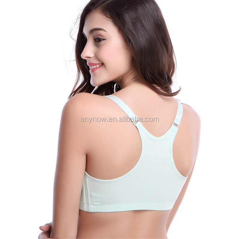 Plus size wireless Underwired front button breastfeeding nursing bra For maternity