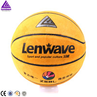 Top quality microfiber composite genuine cow leather basketball