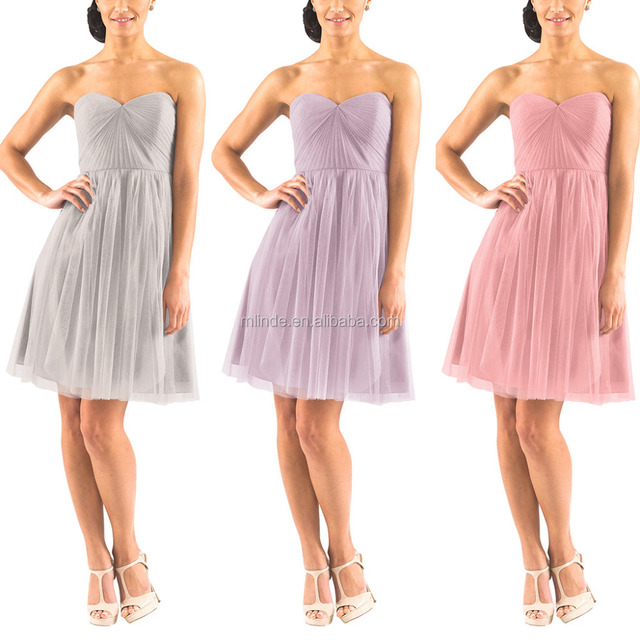 Elegant Beautiful Knee Cocktail Length Bridesmaid Dress Patterns Wholesale Wedding Apparel Dresses