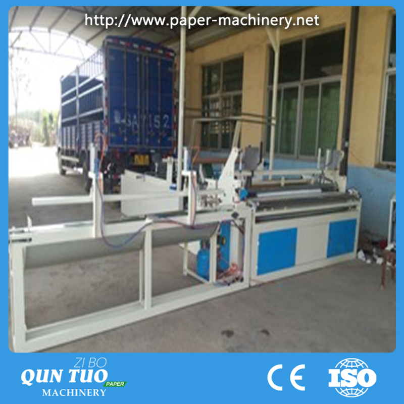 FJ-A Full automatic small toilet paper roll making machine paper slitting and rewinding machine