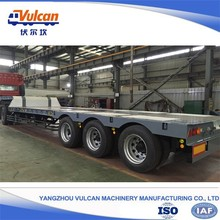 Factory supply off road trailer tri axle flatbed truck trailer