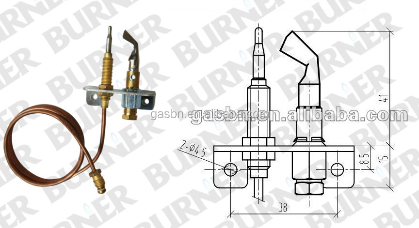 B880215 Universal replacement furnace pilot burner for gas boiler