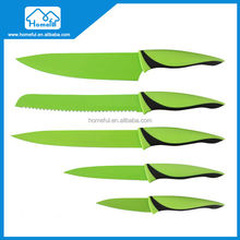 5 piece stainless steel Nonstick Coating Kitchen kid friendly knife