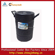 Black plastic cooler for promotion