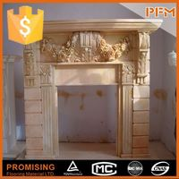 Wholesale hand-craved french style freestanding fireplace mantle