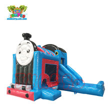 Factory customzied design thomas The Train Inflatable Bounce House with Slide for sale
