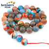 8mm 10mm 12mm 14mm Natural Dragon tricolor mixed color loose gemstone agate beads
