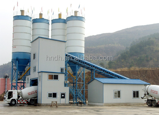 High-performance HZS120 concrete mixing plant