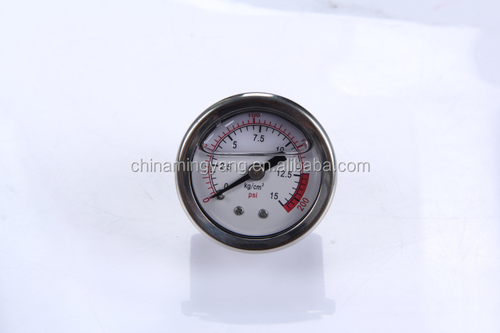 Durable LightWeight Easy To Read Clear Bourdon Sedeme air ball pressure gauge