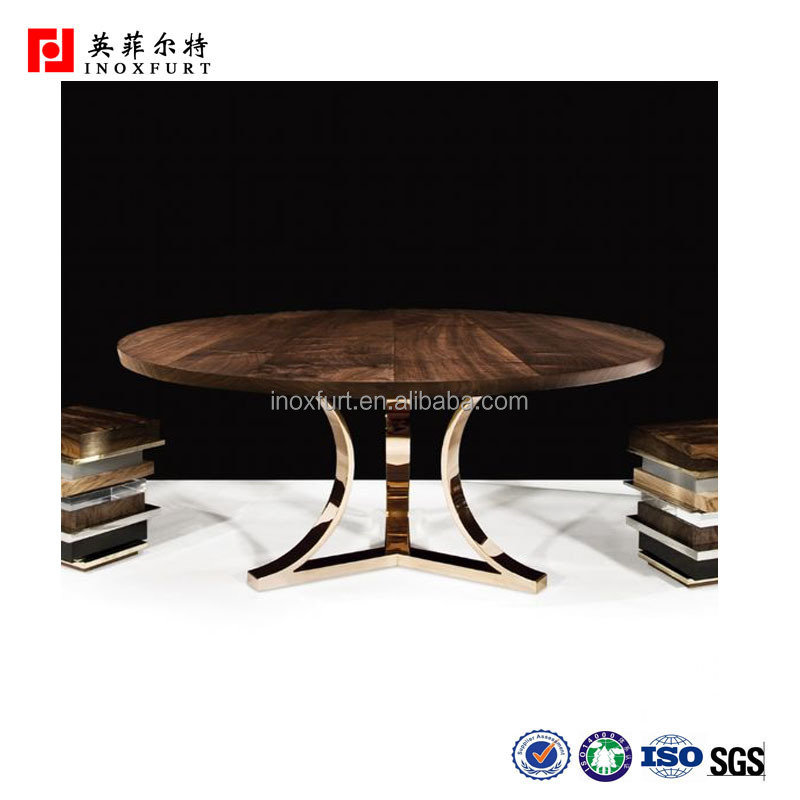 Home Decorative Marble Acrylic Stainless Steel Dining Table Base