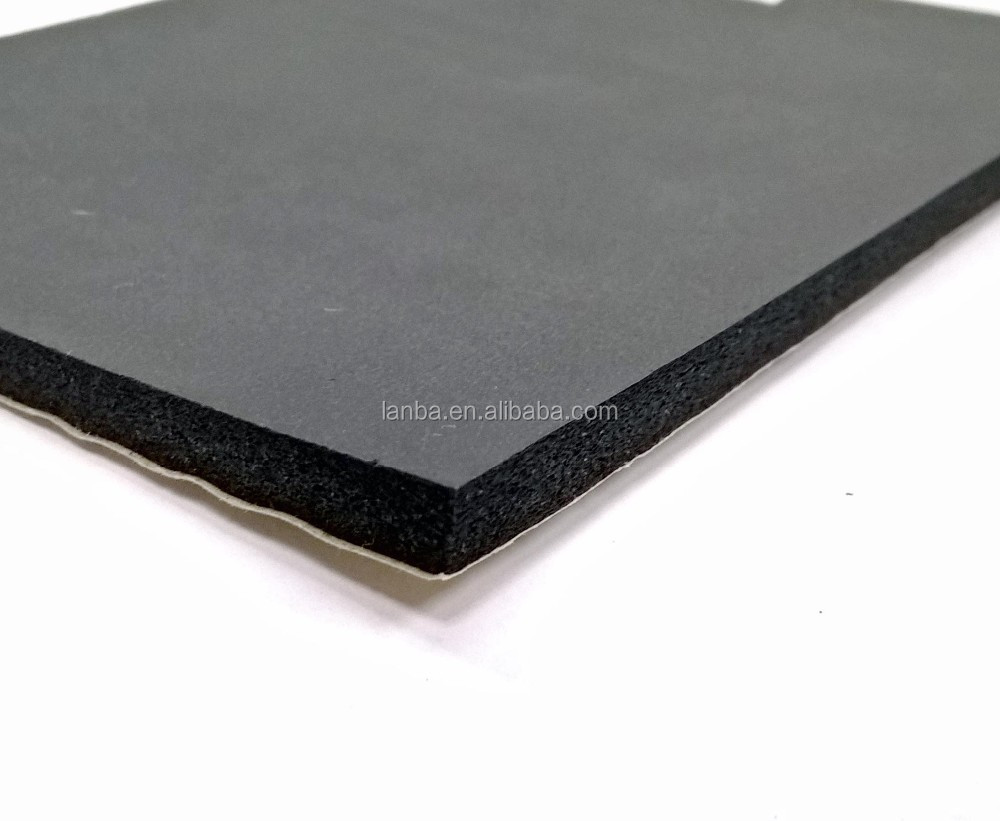High quality self adhesive automotive sound insulation rubber foam