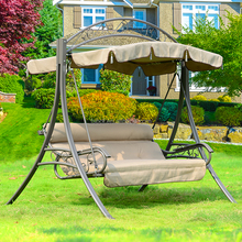 canvas chairs outdoor furniture, two seat outdoor swing, metal swing sets adults A6042