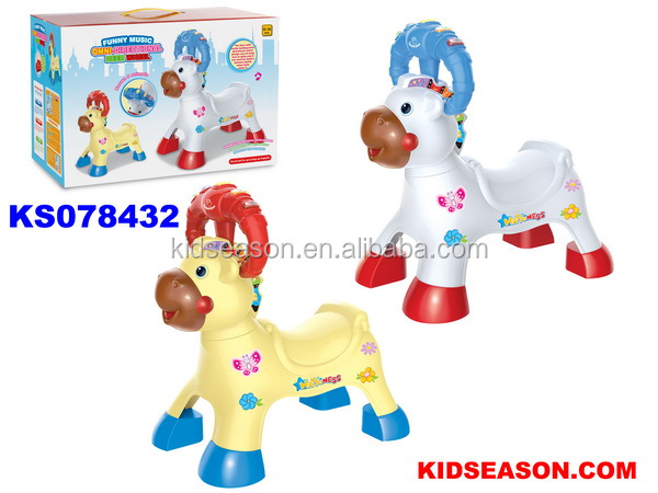 KIDSEASON FREE WHEEL LOVELY DEER SHAPED KIDS RIDE ON CAR WITH LIGHT & MUSIC