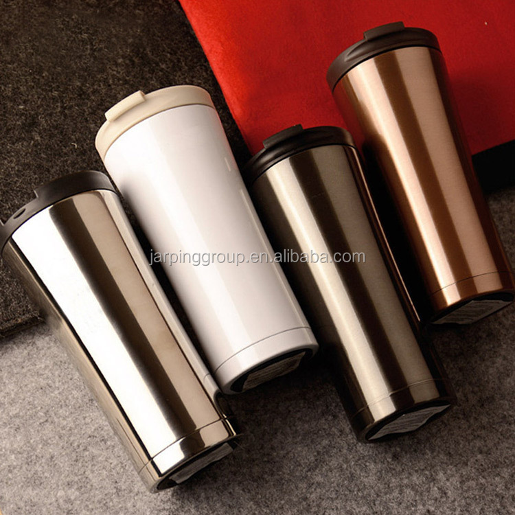 wholesale custom 500ml coffee thermos tumbler travel auto mugs stainless steel starbucks thermal mug JP-501B-8