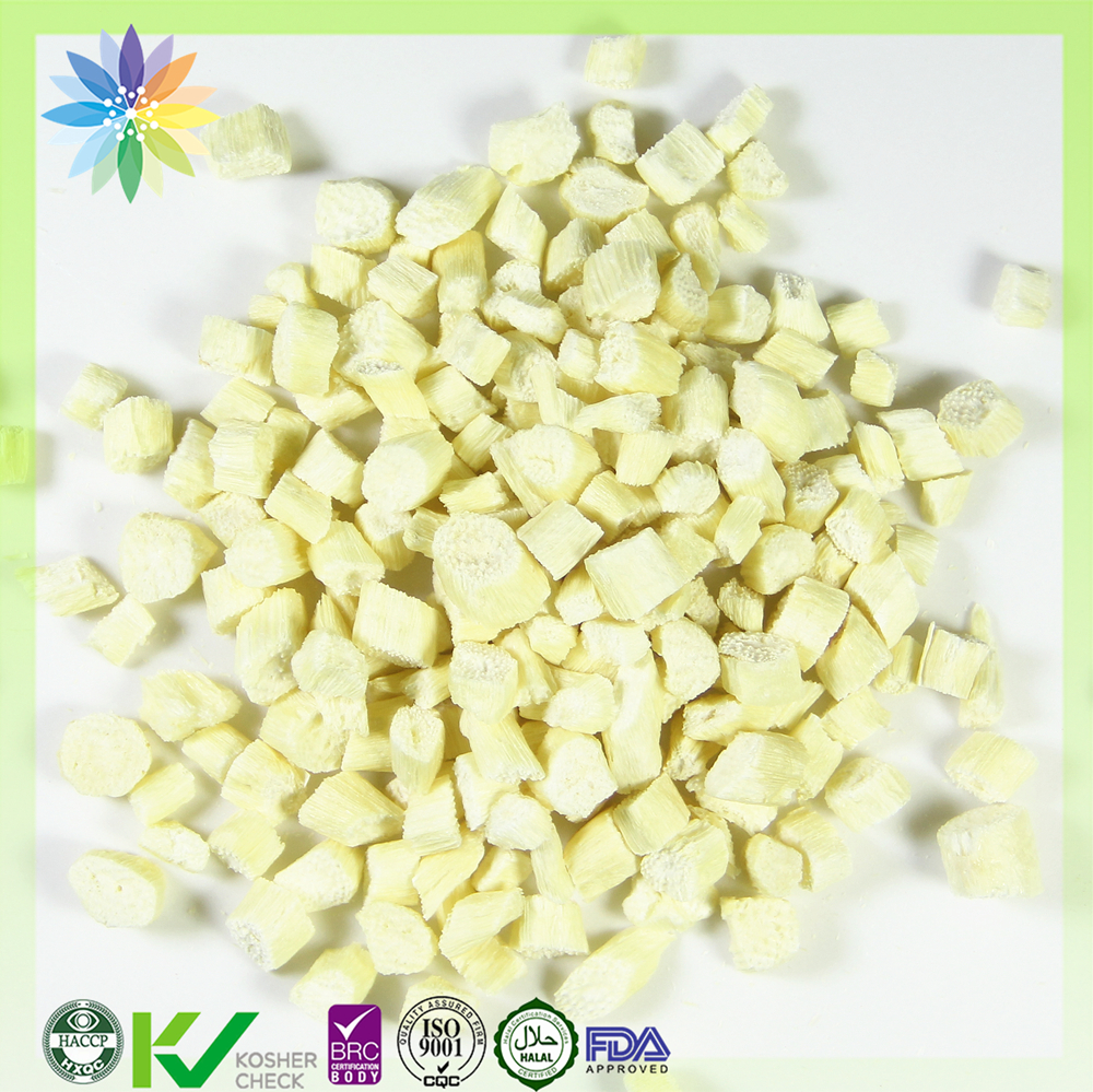 vegetarian freeze dried diced white asparagus