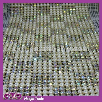 Hot Sale Pearl Rhinestone Banding in Wholesale